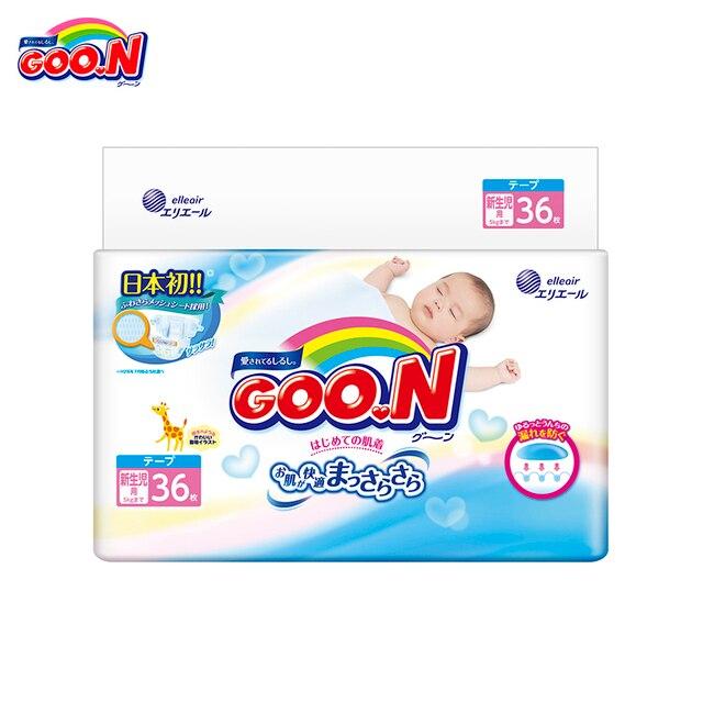 Подгузники для новорожденных GOON до 5 кг (36 шт.) NB