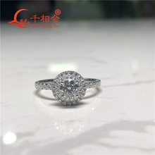 Classic 925 Sterling Silver Ring with 5mm Round-cut DF color moissanite Wedding Jewelry Rings Engagement недорого