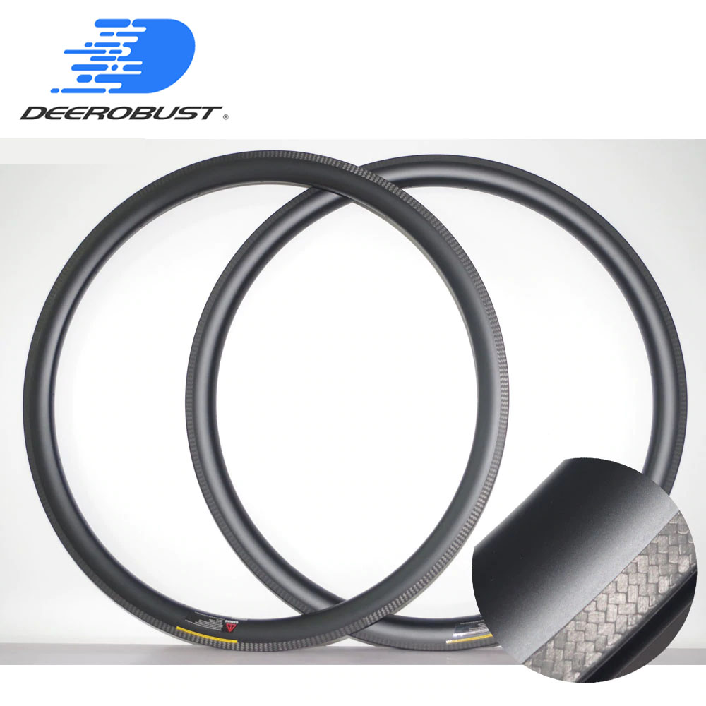 350g 700C 3K TWILL Front Symmetric Rear Asymmetric 38mm X 25mm U Shaped Road Bike Carbon Rims Tubular Bicycle Rim 20 24 Holes