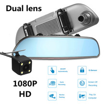 Sale KROAK 7″ 1080P HD Dual Lens Car Rearview Mirror DVR Front Rear Camera Android Wifi GPS Touch Screen Video