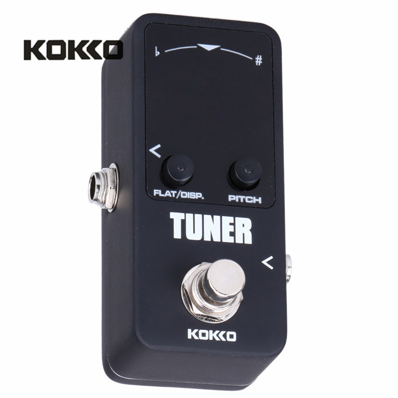 buy kokko tuner mini electric guitar pedal tuner effect device dual display for. Black Bedroom Furniture Sets. Home Design Ideas