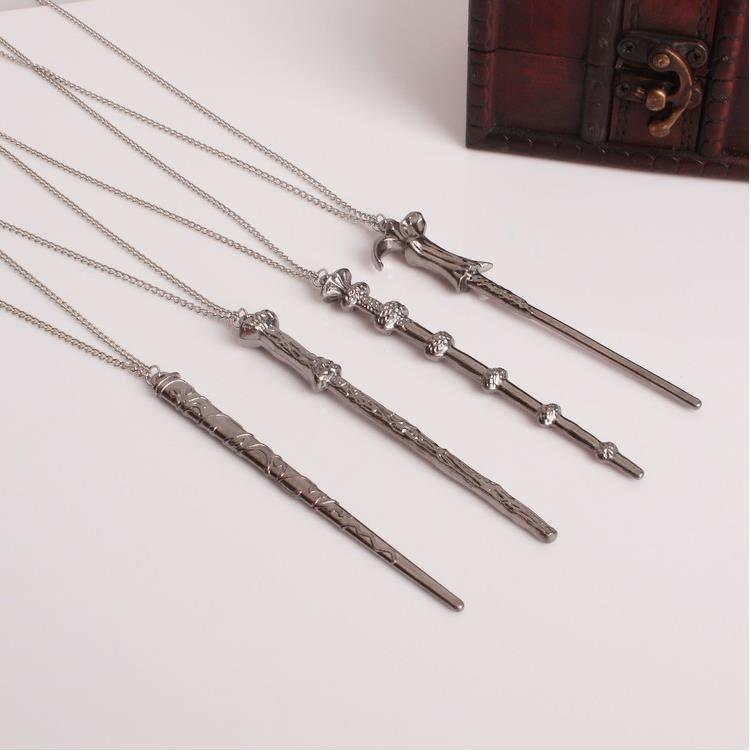 barbara bretton spells Trendy vintage Harry Potter Magic Wand necklaces pendants cast magic spells arms necklace gifts for movie lovers Action Figure