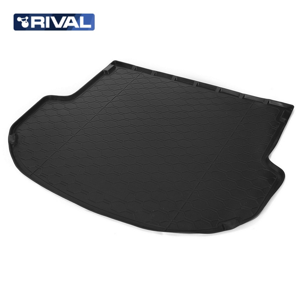 For Hyundai Santa Fe 3 2012-2018 trunk mat for cars with 5-seats saloon Rival 12306003 for hyundai santa fe ix45 2013 2016 5 seats rear trunk hatch security shade black cargo cover new