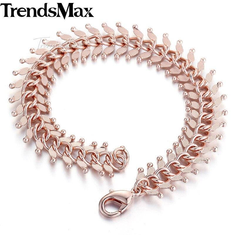 14mm 20 Cm 23 Cm 585 Rose Gold Gefüllt Männer Armband Für Frauen Centipede Link Kette Gb275 Zahlreich In Vielfalt