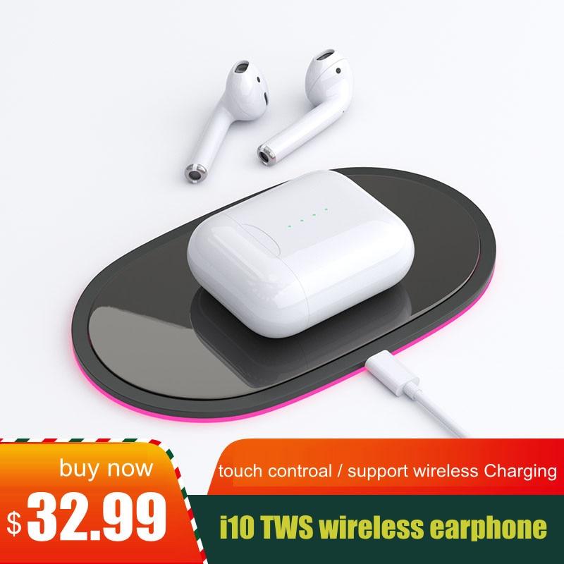 I10 tws Bluetooth Kopfhörer Drahtlose Bluetooth 5,0 Ohrhörer Touch control Kopfhörer mit lade box für alle smartphone