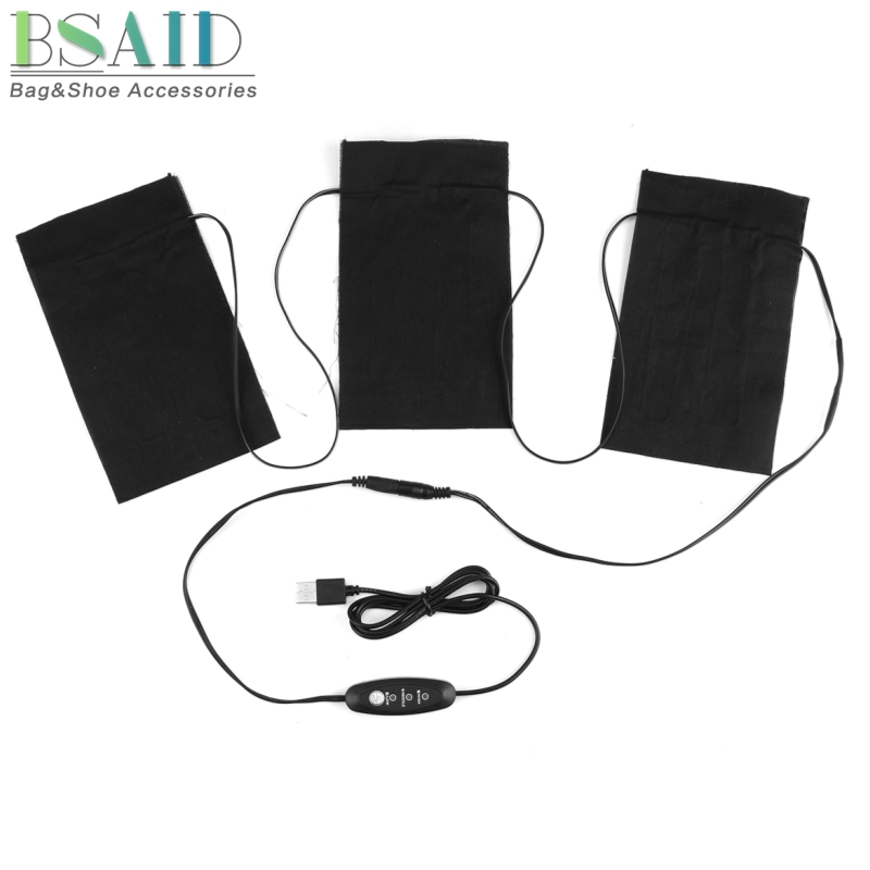 5V 8.5W USB Electric Heating Pads Adjustable Temperature Heated Sheet For Thermal Gloves Clothes Vest Jacket Mobile Warming Mat 5v usb electric clothes heater sheet adjustable temperature winter heated gloves for cloth pet heating pad waist warmer tablet