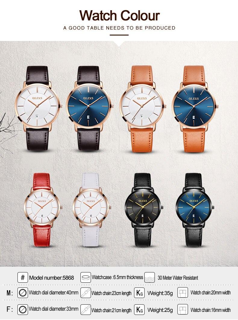 UTB8F6p3cBahduJk43Jaq6zM8FXaZ 60% OFF OLEVS Men Ultra thin Watches - Top Brand Luxury Quartz Watch Men's [ New ]