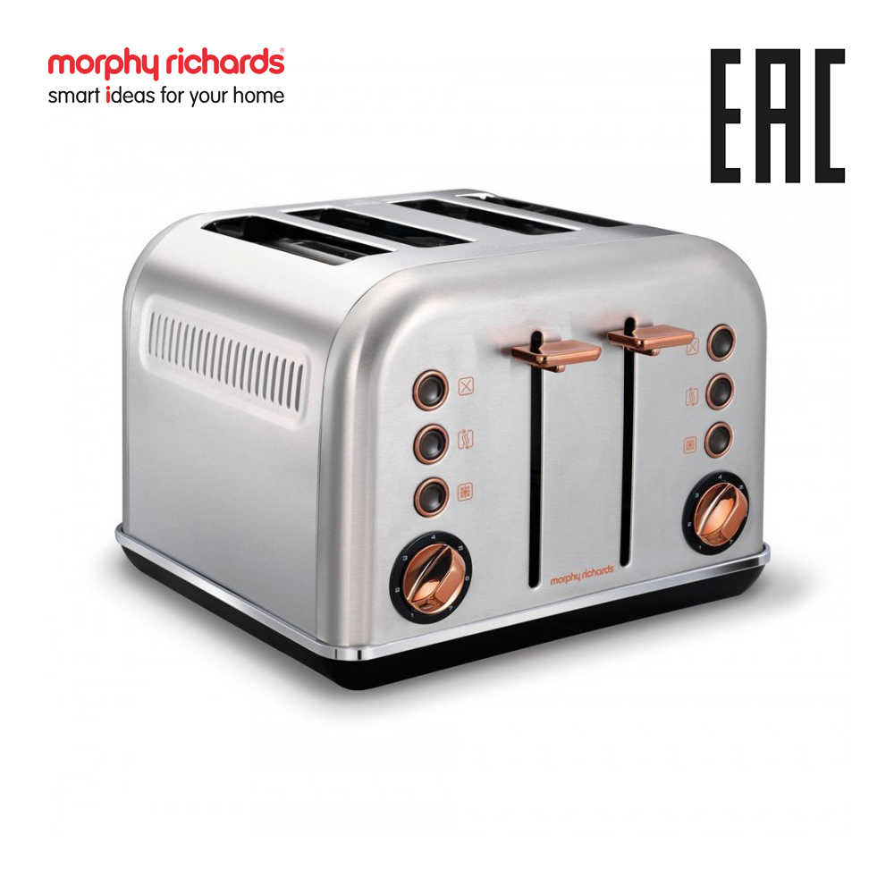 лучшая цена Toaster Morphy Richards Accents Rose Gold Brushed 242105