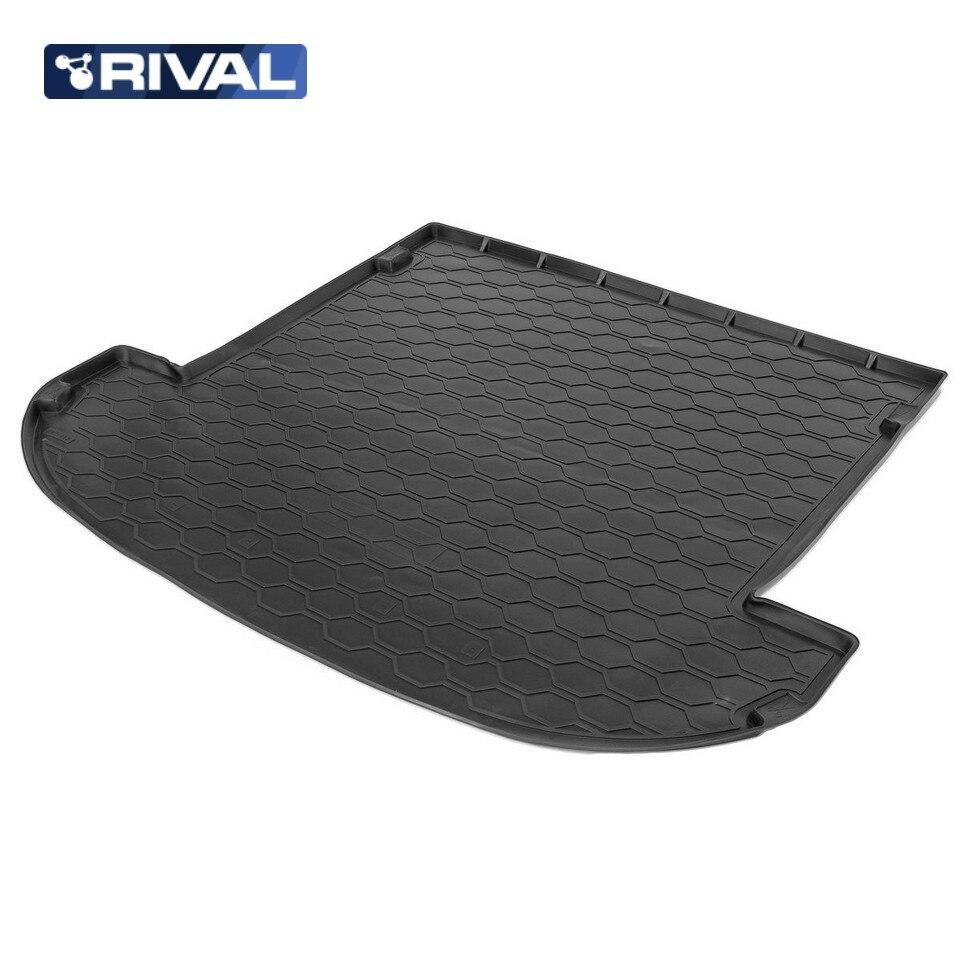 цена на For Hyundai Santa Fe IV (7 seats folded 3 row) 2018-> Mat trunk polyurethane [Rival 12306007]