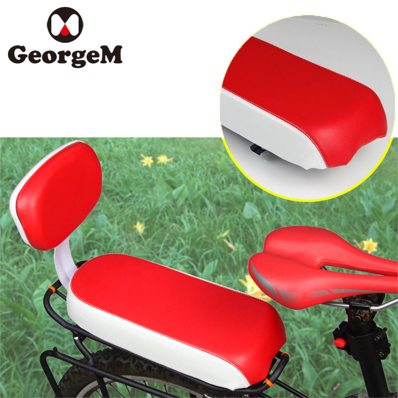 GeorgeM Cycling Saddle PU Leather Bicycle Child Seat Cover Bike Rack Cushion Biking Seat ...