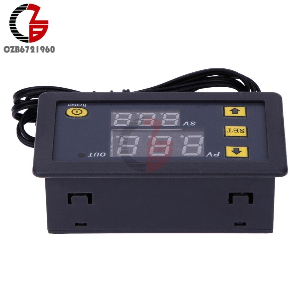 DC 12V 24V 110V 220V AC 20A LED Digital Temperature Controller Thermostat Thermometer Temperature Control Switch Sensor Meter