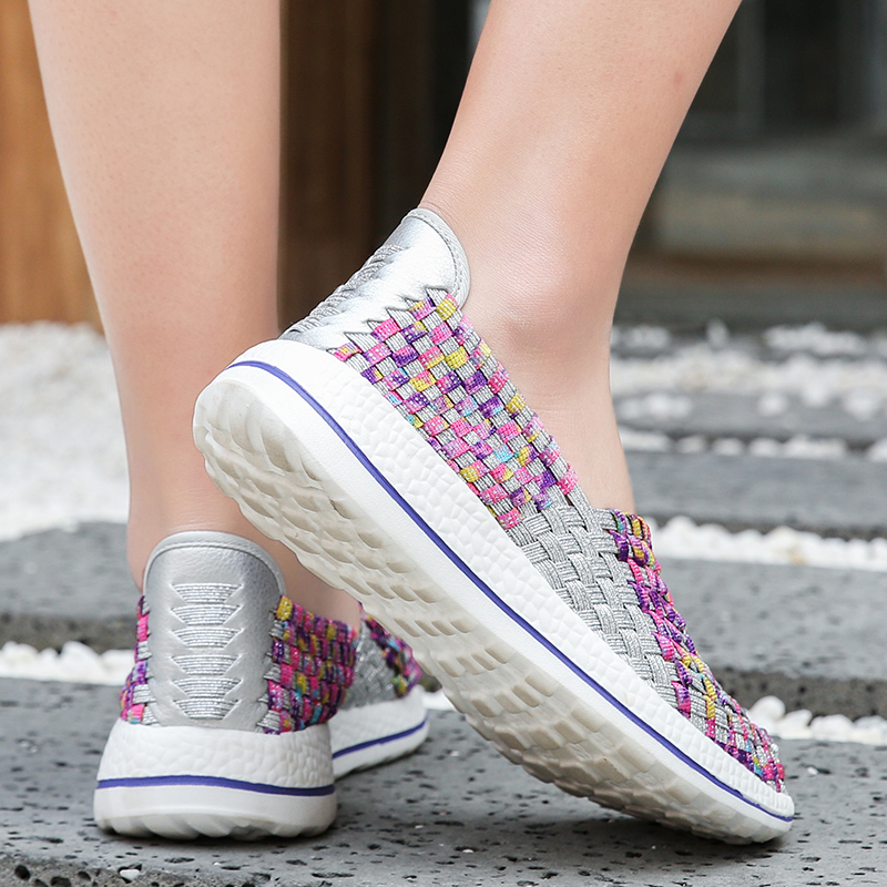 Image 5 - Women Shoes Flats Summer Breathable Sneakers Fashion Women Tenis Casual Loafers Comfortable Walk Shoes Outside Sneakers ZapatosWomens Flats   -