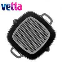 VETTA GRILL poêle en fonte poêle antiadhésive gril en fonte discount induction cuisinière four 808-004