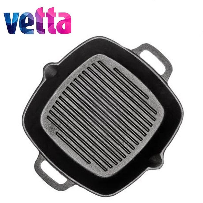 Vetta grill ferro fundido frigideira antiaderente frigideira grill ferro fundido desconto fogão de indução forno 808-004