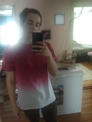 Инфляции футболка Для мужчин смешно Хип-хоп Dip Dye хлопок O шеи короткий рукав Футболка 039S16