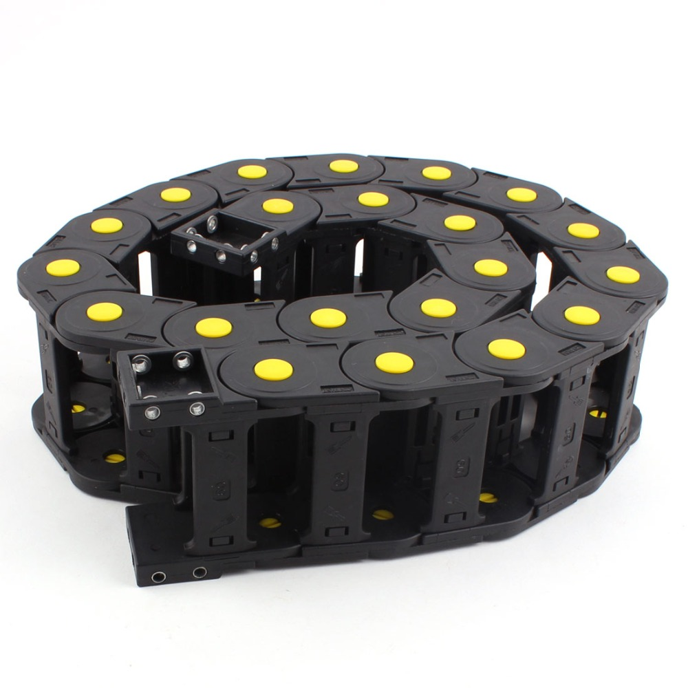 uxcell-plastic-cable-drag-chain-wire-cord-carrier-60x25-mm-1m-length-black-for-cnc-machine-tools-transmission-chains-power-parts