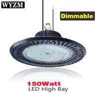 150W 110V 277V,Dimmable LED High Bay Lights 300W HPS or MH Bulbs Equivalent,Great Garage Shopping Mall LED Lights
