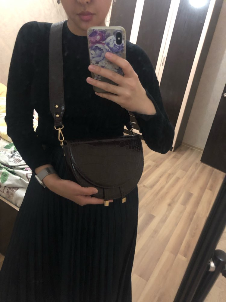 supper seabob 2019 new fashion women clothing half circle coverd pu leather trendy one shoulder shell bags WC63701 photo review