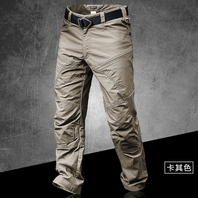 Male Spring Autumn Outdoor Overalls Cargo Trousers Army Fans Climbing Hiking Waterproof Slim Breathable Tactical Training Pants in Hiking Pants from Sports Entertainment