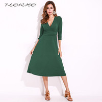 Women Pleated Party Dresses Elegant Evening Sexy Club Dresses Short Sleeve Deep V Neck Midi Ruched