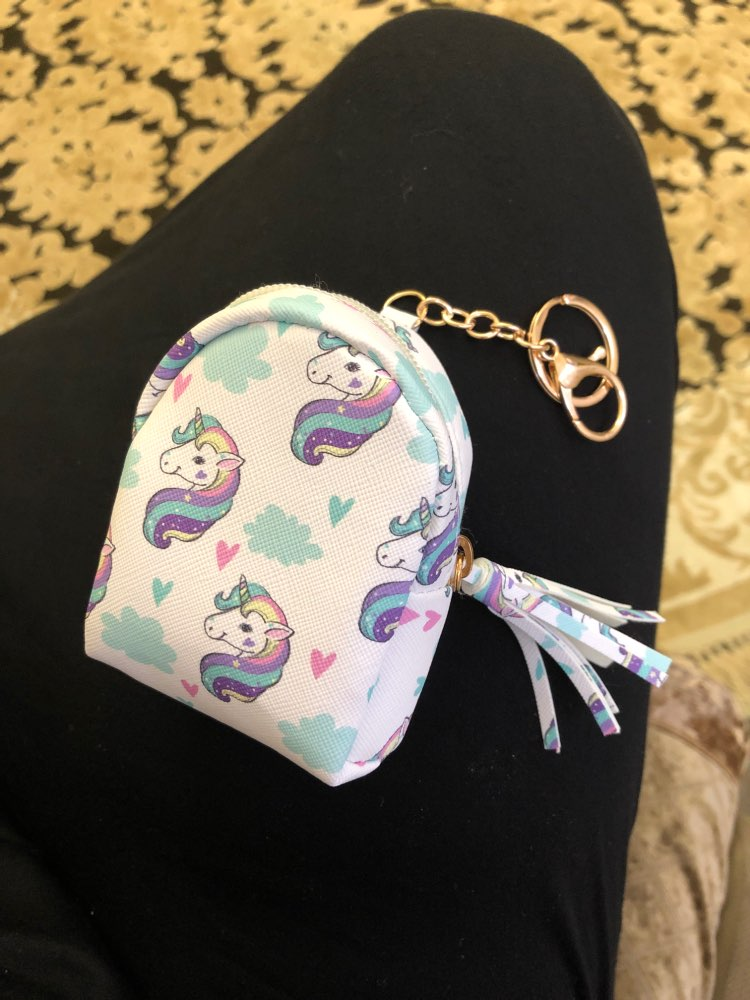 HJKL Cartoon Unicorn coin purses women wallets small cute kawaii card holder key money bags for girls ladies purse kids children photo review