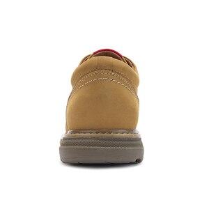 Image 3 - 캐멀 새로운 패션 남자 공구 신발 남자의 정품 가죽 신발 남자 야외 캐주얼 야생 편안한 남자 신발