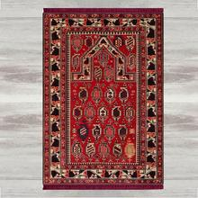 Else Red Black Brown Retro 3d Print Turkish Islamic Muslim Prayer Rugs Tasseled Anti Slip Modern Prayer Mat Ramadan Eid Gifts