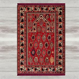 Image 1 - Else Red Black Brown Retro 3d Print Turkish Islamic Muslim Prayer Rugs Tasseled Anti Slip Modern Prayer Mat Ramadan Eid Gifts