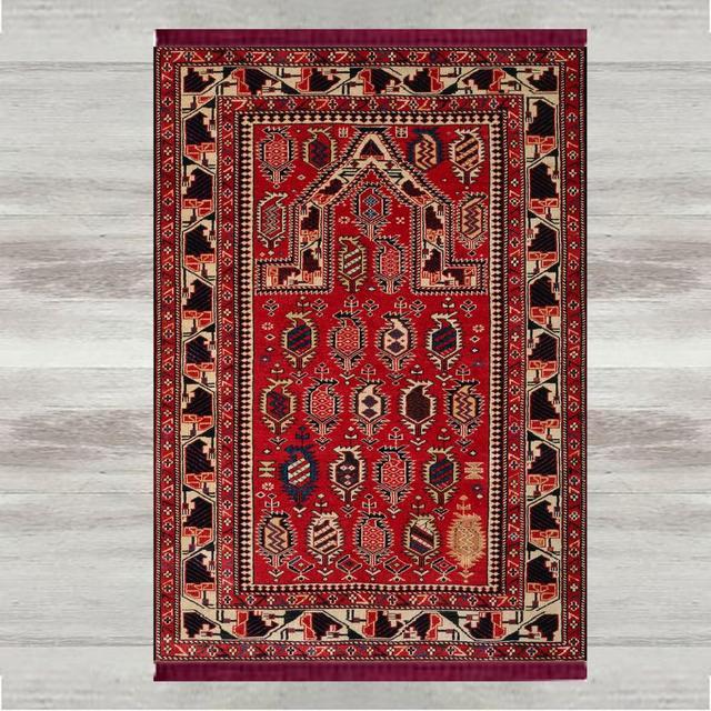 Innego czerwony czarny brązowy Retro 3d druku turecki islamska muzułmańskie dywaniki modlitewne Tasseled antypoślizgowe nowoczesne dywanik modlitewny Ramadan Eid prezenty
