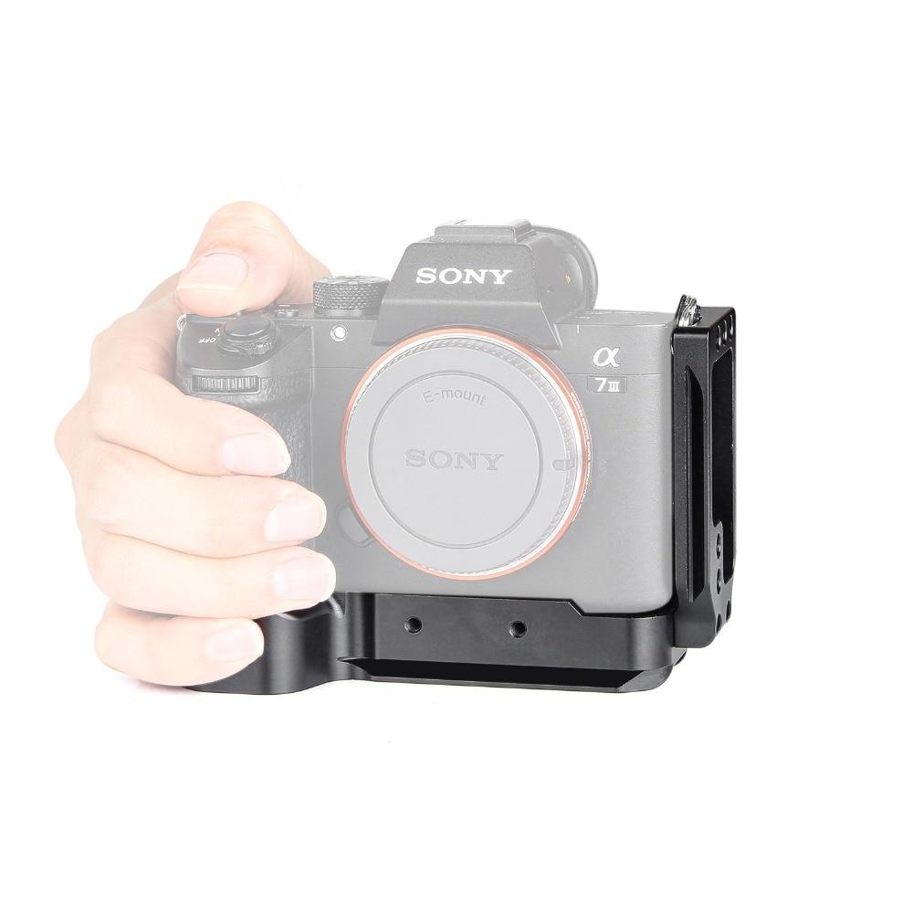 L plaque métal poignée de main support de caméra support stabilisateur plaque de glissière amovible Compatible pour Sony A9 A7III A7R3 A7M3 A73