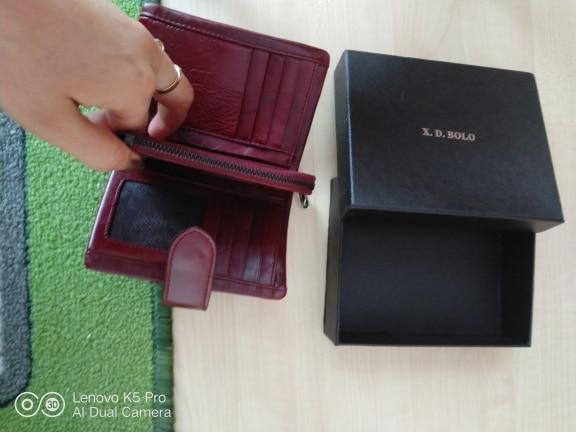 Пакет:: подарочной коробке; Материал:: Натуральная Кожа Женщин Бумажник; небольшой бумажник женщин; кожаный бумажник женщин;