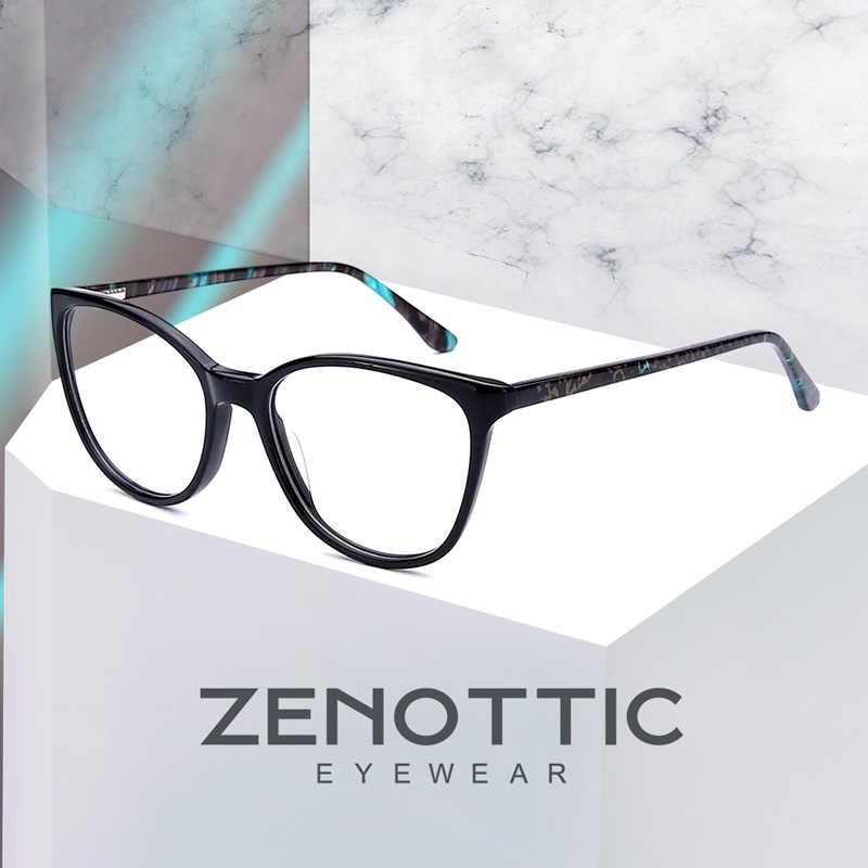 ZENOTTIC acetato de gafas graduadas para miopía las mujeres claro óptico gafas Anti-Blue-Ray hipermetropía gafas fotosensibles nuevo