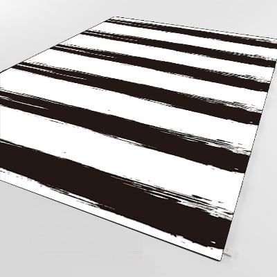 Else Black White Lines Geometric Scandinavian 3d Print Non Slip Microfiber Living Room Decorative Modern Washable Area Rug Mat