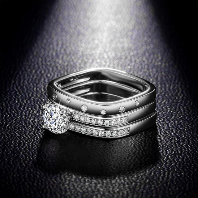 Sterling silver 3 Piece fashion ring Set  3