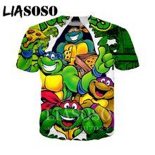 0743d7589 LIASOSO Anime 3d print t shirt Men Women fashion Teenage Mutant Ninja Turtle  Harajuku 2018 tee Funny t shirts homme tshirt D815