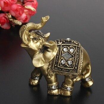 חם מעודן פנג שואי אלגנטי פיל פסל מזל עושר צלמית קישוטי מתנה עבור בית משרד שולחן העבודה קישוט מלאכות