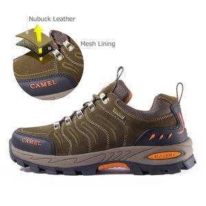Image 2 - Deve erkekler kadınlar yürüyüş ayakkabıları hakiki deri dayanıklı kaymaz sıcak nefes açık dağ tırmanışı trekking ayakkabıları