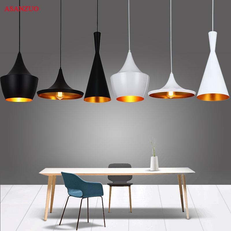 Retro American Pendant Lights E27 Modern Nordic Restaurant Hanging Lamps Vintage Dining Living Room Bar Cafe Droplight Fixtures