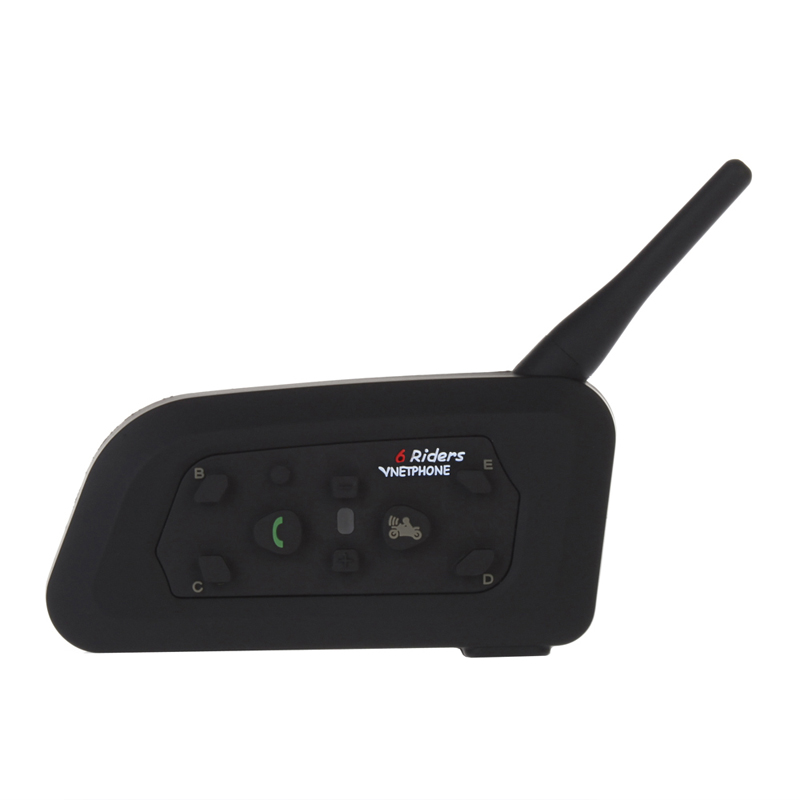 Vnetphone 2pcs V6 Motorcycle Interphone 1200M Bluetooth Helmet Intercom Headset intercomunicador moto Wireless for 6 Riders