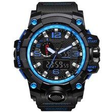 Men Analog LED Digital Quartz Watch Dual Display Waterproof Sport Wrist Watch
