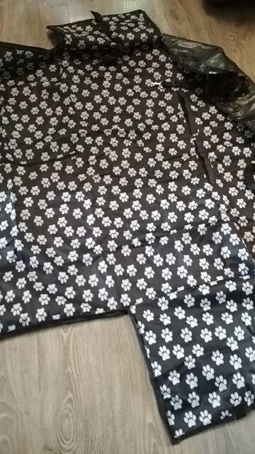Pet перевозчиков Ткань Оксфорд Paw pattern автомобиль животное Чехлы Водонепроницаемый сзади сиденье дорожные аксессуары чехлы сидений автомобиля коврик