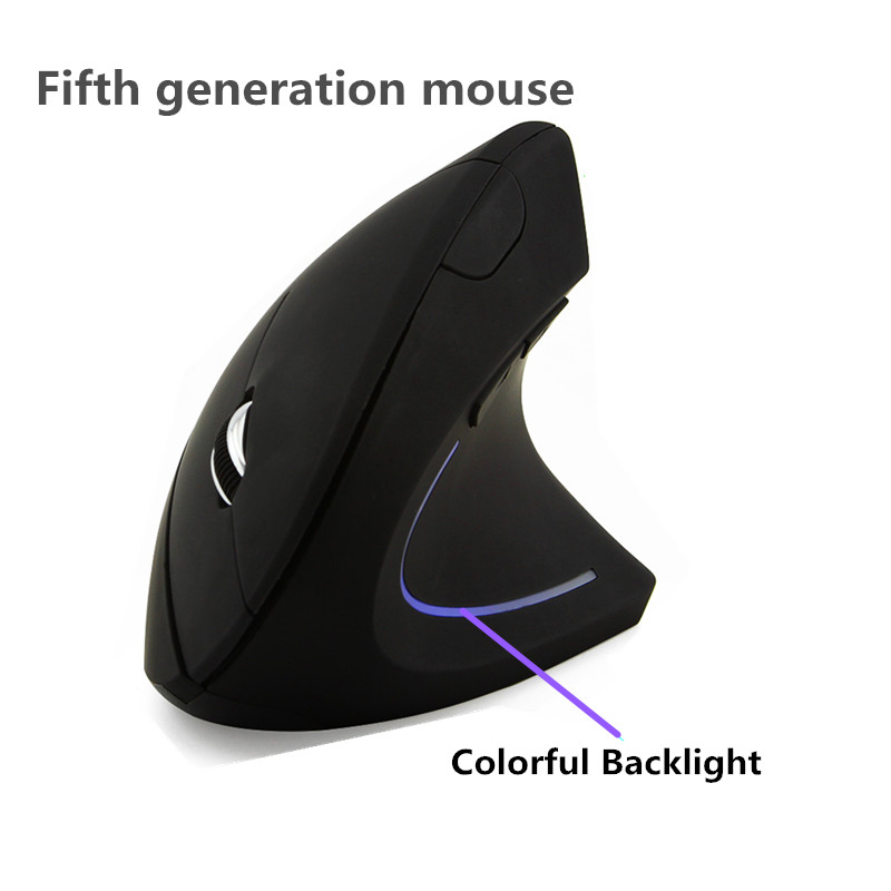Ergonomic Optical 2.4G 800/1200/1600DPI Colorful LightWireless Mouse Wrist Healing Vertical Mice with Mouse Pad Kit For PC chyi wired mouse ergonomic vertical 800 1000 1200 1600dpi 5 keys usb gaming mice with mouse pad kit wrist rest mat for pc laptop