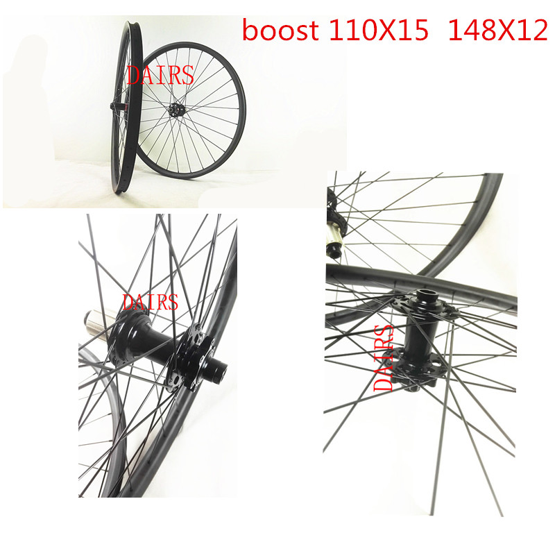 BOOST hubs 27.5er MTB wheels 35mm width 650B mtb boost hubs 110X15 148X12 UD/3K matte glossy MTB wheels 27 5er mtb wheels width 35mm carbon mtb wheels novatec 791 792 thur axle 650b mountain bikes bicycle mtb wheels