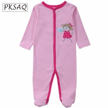 PKSAQ Cartoon Design Rompers Cotton Girl Boy Clothes Newborn Baby Next Jumpsuits Long sleeves Footed Coverall Pajamas
