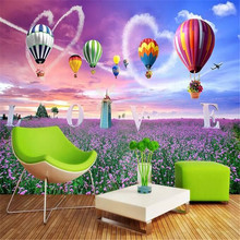 цены Lavender Flower Sea 3D TV Background Wall Background Factory Wholesale Wallpaper Mural Custom Photo Wall