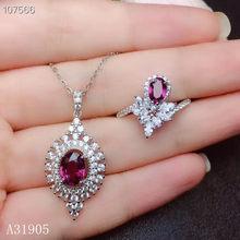 Jjeaxcmy boutique de joyería de plata de ley 925 com incrustações de magnesio natural aluminio granato piedra preciosa femeni