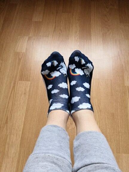New arrival  Women Low Cut Ankle Socks Funny Aliens 3D Printing Sock Cotton Hosiery Printed Sock