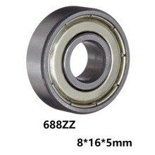 3 шт./лот 688ZZ миниатюрные шариковые Мини подшипники с глубоким желобом 688ZZ 688-ZZ 8*16*5 мм 8*16*5 с 52100 хромированной сталью