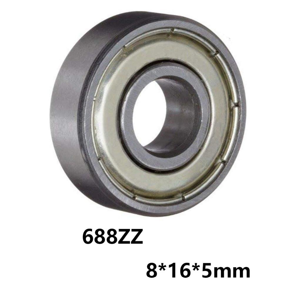 Mini rolamentos bola, miniatura rolamentos 688zz 688-zz 8*16*5mm 8*16*5 com material de aço cromado 52100