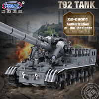 1832 PCS Army Tank MOC Military World War 2 the T92 Tank Set Legoinglys Technic Weapons Model Building Blocks Bricks Toys Gifts